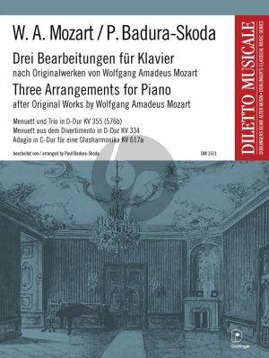 Mozart 3 Bearbeitungen nach Originalwerken für Klavier (Paul Badura-Skoda)