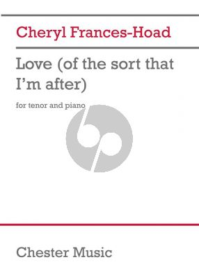 Frances-Hoad Love (of the sort that I'm after) Tenor and Piano