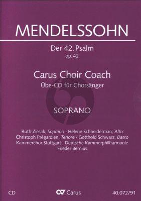 """Psalm 42 Op.42 """"Wie der Hirsch schreit nach frischem Wasser"""" Sopran Chorstimme CD (Carus Choir Coach)"""