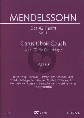 """Mendelssohn Psalm 42 Op.42 """"Wie der Hirsch schreit nach frischem Wasser"""" Alt Chorstimme CD (Carus Choir Coach)"""