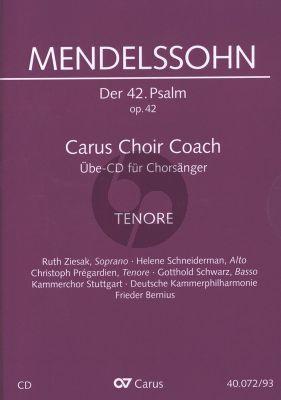 """Mendelssohn Psalm 42 Op.42 """"Wie der Hirsch schreit nach frischem Wasser"""" Tenor Chorstimme CD (Carus Choir Coach)"""