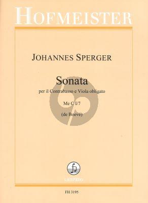 Sperger Sonate per il Contrabasso e Viola obligati (Double Bass and Viola) (Arr. Wies de Boeve)
