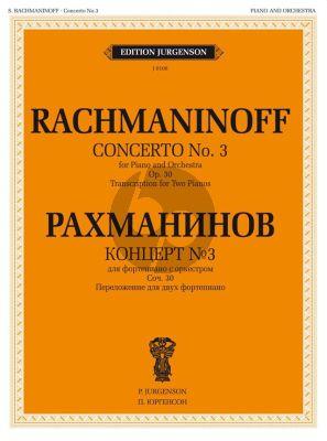 Rachmaninoff Concerto No.3 Op.30 d-minor (Piano-Orch.) (red. 2 Piano's)