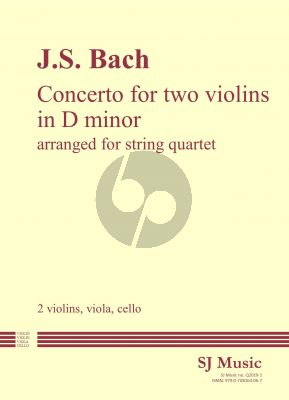 Bach Concerto 2 violins d-minor for String Quartet (Score/Parts) (transcr. by John Cooley)