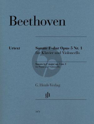 Beethoven Sonata F-major Op. 5 No. 1 Violoncello and Piano