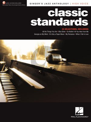 Classic Standards High Voice (Singer's Jazz Anthology) (with Recorded Piano Accompaniments Online)