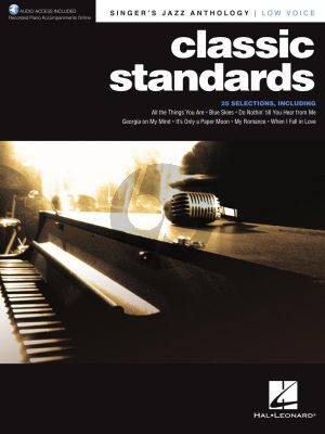 Classic Standards Low Voice (Singer's Jazz Anthology) (with Recorded Piano Accompaniments Online)