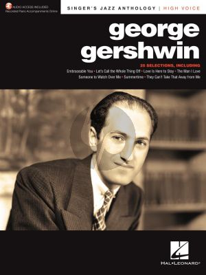 George Gershwin Singer's Jazz Anthology High Voice (with Recorded Piano Accompaniments Online)