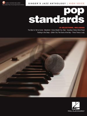 Pop Standards - Singer's Jazz Anthology High Voice (with Recorded Piano Accompaniments Online)