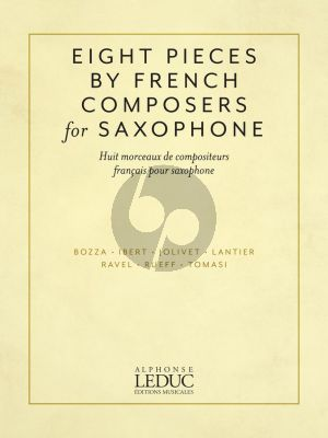Eight Pieces by French Composers for Alto Saxophone and Piano (edited by Nicole Roman)