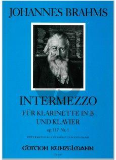 Intermezzo Op.117 No. 1 in B Klarinette in B und Klavier