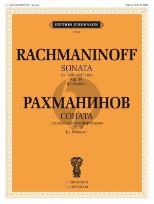 Sonata Op. 19 Violoncello and Piano