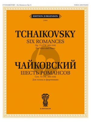 Tchaikovsky 6 Romances Op.73 Voice and Piano