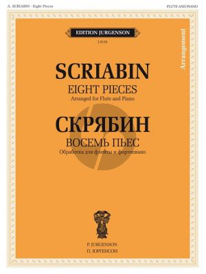 Scriabin 8 Pieces Flute and Piano (Arr. B. Bekhterev)