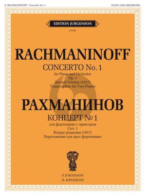 Rachmaninoff Concerto No.1 Op.1 Second Version 1917 (red. 2 Pianos)