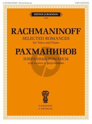 Rachmaninoff Selected Romances for Voice and Piano