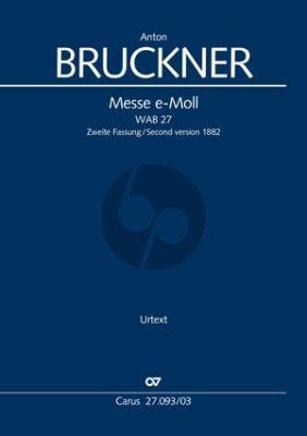 Bruckner Messe e-Moll 2. Fassung 1882 SSAATTBB und Orchester (Klavierauszug) (Dagmar Glüxam)