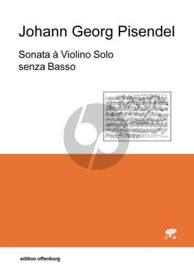 Pisendel Sonata A Minor for a Violin Solo without Basso (Neuedition mit Faksimile Einlage (Facsimile)) (Herausgegeben von Mihoko Kimura)