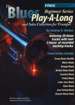Blues Play-A-Long and Solos Collection for Trumpet Beginner Series Book with Mp3 files