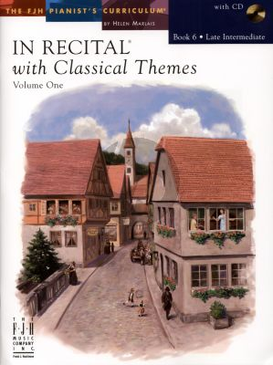 Marlais In Recital with Classical Themes Vol.1 Book 6 Late Intermediate Piano (Book with Cd)