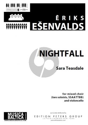 Esenvalds Nightfall for Mixed Choir (two soloists, SSAATTBB) and Violoncello (Score)