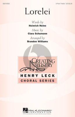Schumann Lorelei 3 Treble Voices and Piano (Words by Heinrich Heine) (Arranged by Brandon Williams)