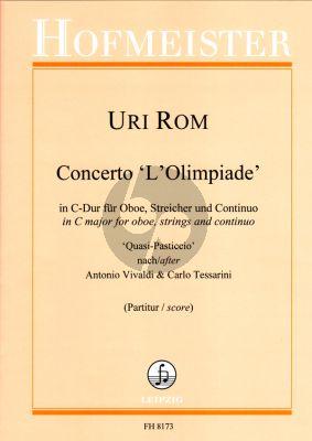 Rom Concerto C-dur L'Olympiade Oboe-Streicher und Bc ('Quasi-Pasticcio' nach Antonio Vivaldi & Carlo Tessarini) (Partitur)