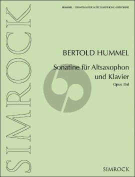 Hummel Sonatine Op. 35d Altsaxophon und Klavier