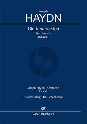 Haydn Die Jahreszeiten Hob. XXI:3 Soli-Chor und Orchester (Klavierauszug XXL Grossdruck) (Ernst Herttrich)