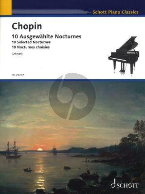 Chopin 10 Ausgewahlte Nocturnes Klavier