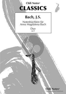 Notenbüchlein für Anna Magdalena Bach For Saxophone Duet (Alto-Tenor) (Arranged by Michael Christian Schnebele)