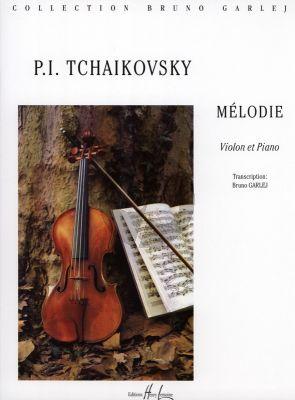 Tchaikovsky Melodie op.42 Violon-Piano (Transcription Bruno Garlej)