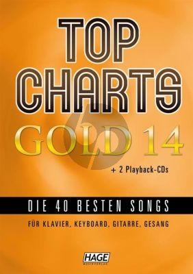 Top Charts Gold Vol.4 BK- 2 Cd's Piano-Vocal-Guitar