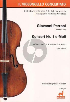 Perroni Konzert No. 1 d-Moll Violoncello-Streicher-Bc (Klavierauszug) (Markus Möllenbeck)