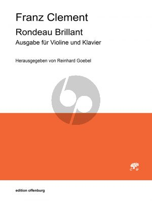 Clement Rondeau Brillant Op. 36 Violine solo with String Quartet (piano reduction) (edited by Reinhard Goebel)