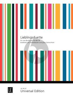Lieblingsduette fur 2 Blockflöten (TB/SB) (Leichte zweistimmige Stücke aus vier Jahrhunderten) (Arr. Sylvia Corinna Rosin / Irmhild Beutler)