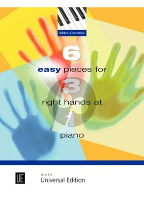 Cornick 6 Easy Pieces for 3 Right Hands at 1 Piano