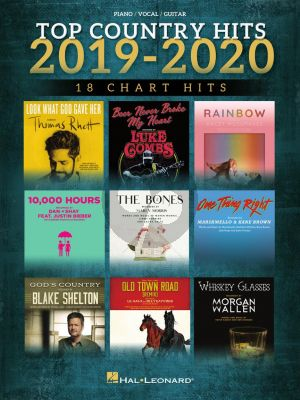 Top Country Hits of 2019-2020 Piano-Vocal-Guitar