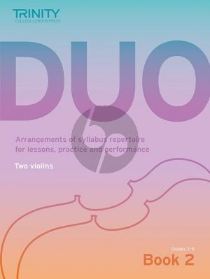 Trinity College London Duo Book 2 2 Violins (grades 3 - 5) (edited by Richard Mainwaring)