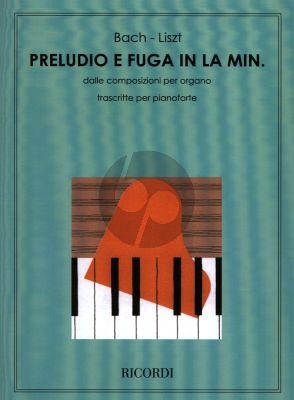 Prelude and Fugue A-Minor BWV 543 for Piano Solo