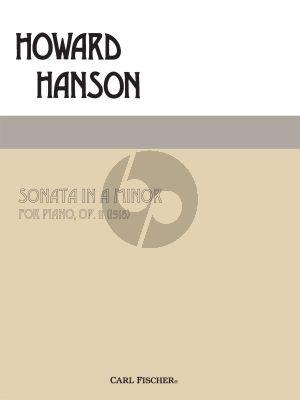 Hanson Sonata a-minor Op. 11 Piano solo (1918)