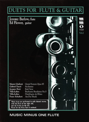 Album Duets for Flute and Guitar Vol.2 Minus Flute (Book with Audio Online)
