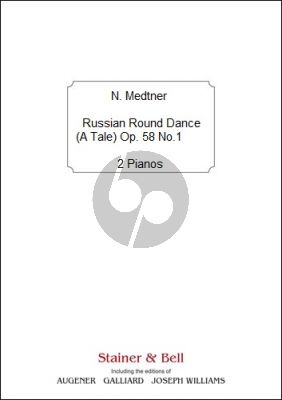 Medtner Russian Round Dance (A Tale) Op.58 No.1 2 Pianos (2 Copies Provided) (Print on Demand)