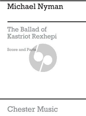 Nyman The Ballad Of Kastriot Rexhepi String Quartet (Score/Parts)