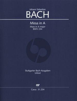 Bach Missa A-Dur BWV 234 Kyrie-Gloria-Messe (Lutherische Messe) Partitur (Lateinisch - Herausgegeben von Ulrich Leisinger)