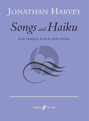 Harvey Songs and Haiku Mezzo-Soprano and Piano