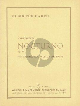 Trnecek Nocturno OP. 29 Violine-Violoncello und Harfe (Part./Stimmen)