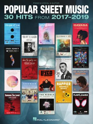 Popular Sheet Music – 30 Hits from 2017-2019 (Piano-Vocal-Guitar)