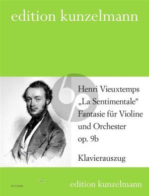 Vieuxtemps La Sentimentale - Fantasie für Violine und Orchester Op. 9b (Klavierauszug) (Olaf Adler)