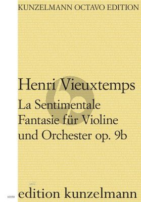 Vieuxtemps La Sentimentale - Fantasie für Violine und Orchester Op. 9b (Partitur) (Olaf Adler)